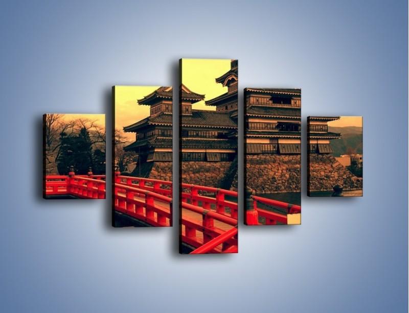 Obraz na płótnie – Japońska architektura – pięcioczęściowy AM235W1