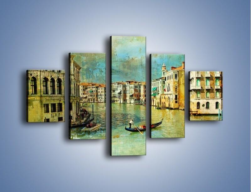 Obraz na płótnie – Weneckie lato w stylu vintage – pięcioczęściowy AM245W1
