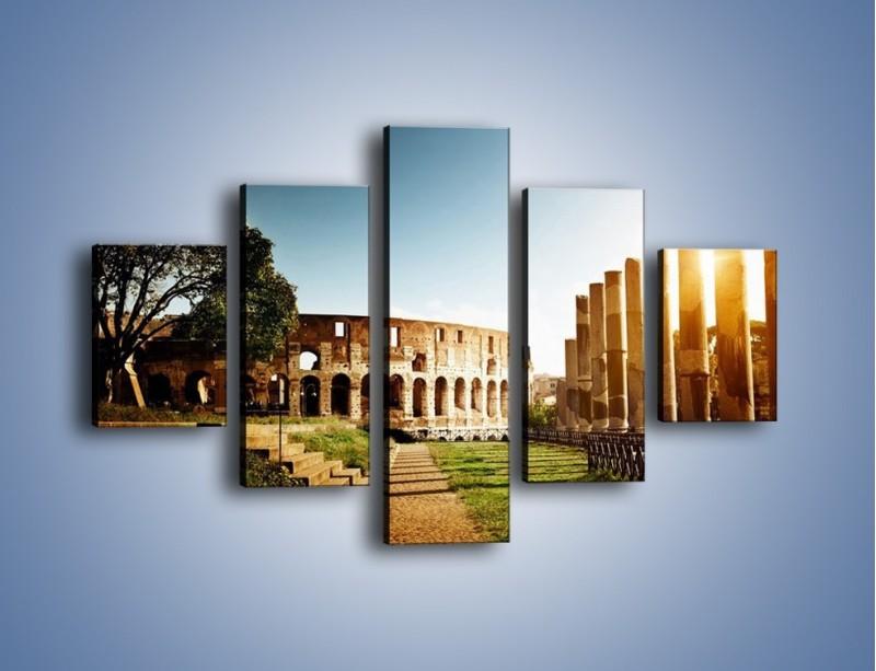 Obraz na płótnie – Koloseum w świetle słońca – pięcioczęściowy AM269W1