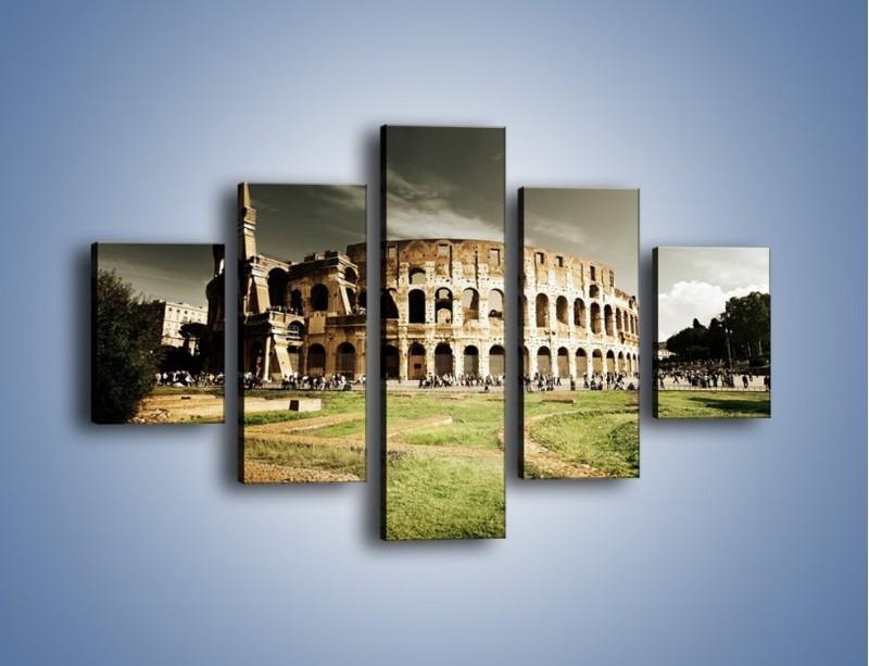Obraz na płótnie – Koloseum przed burzą – pięcioczęściowy AM271W1