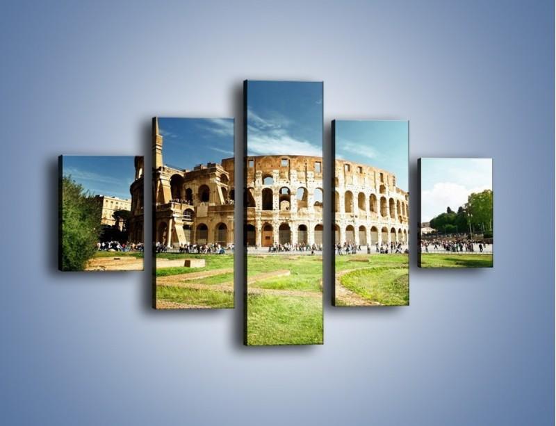 Obraz na płótnie – Koloseum w piękny dzień – pięcioczęściowy AM273W1