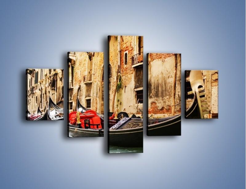 Obraz na płótnie – Wenecka gondola – pięcioczęściowy AM286W1