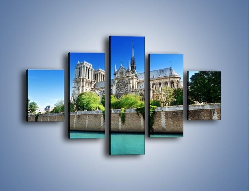 Obraz na płótnie – Katedra Notre-Dame – pięcioczęściowy AM305W1
