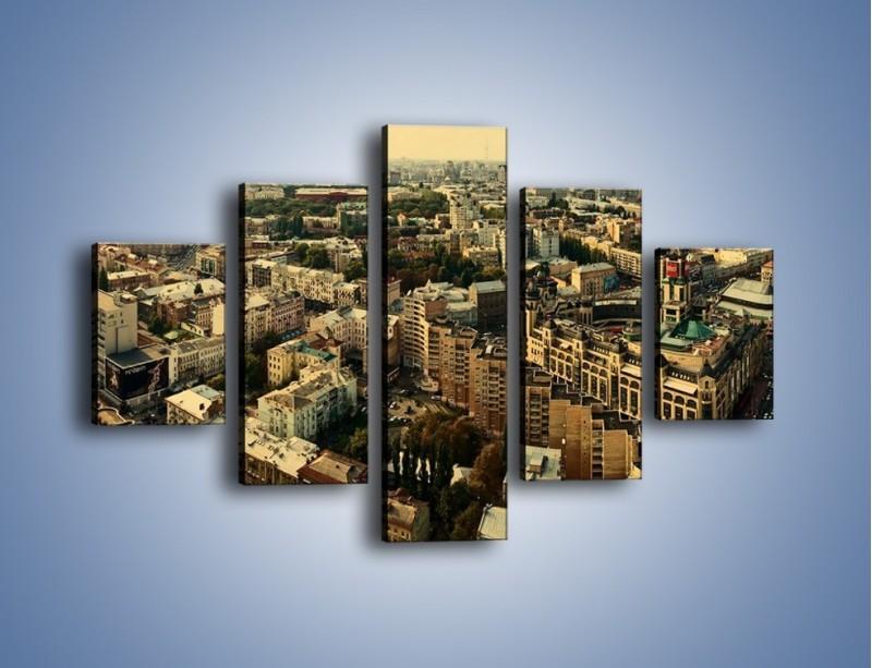 Obraz na płótnie – Panorama Kijowa – pięcioczęściowy AM326W1