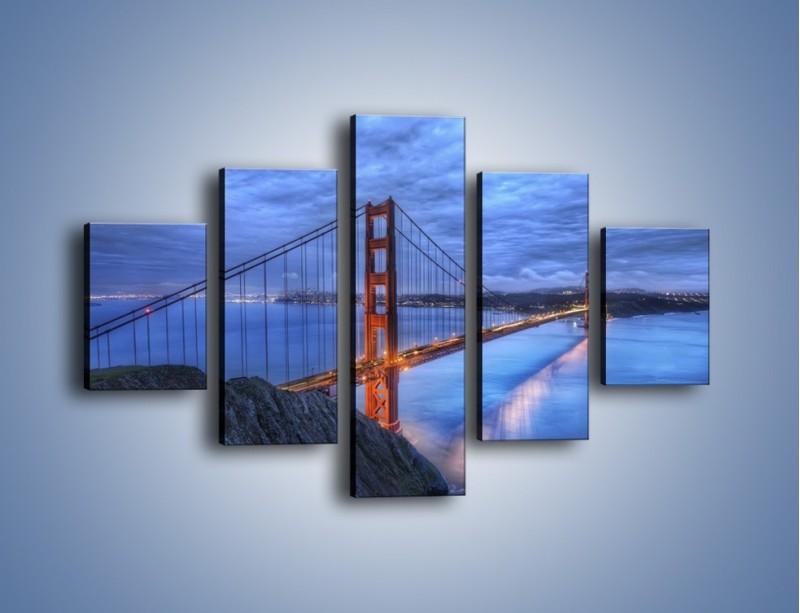Obraz na płótnie – Most Golden Gate – pięcioczęściowy AM328W1