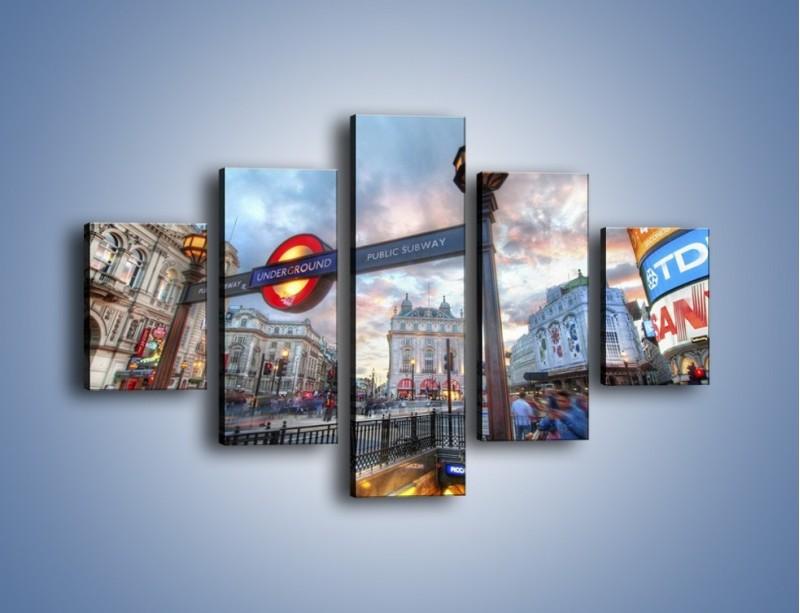 Obraz na płótnie – Wejście do londyńskiego metro – pięcioczęściowy AM334W1