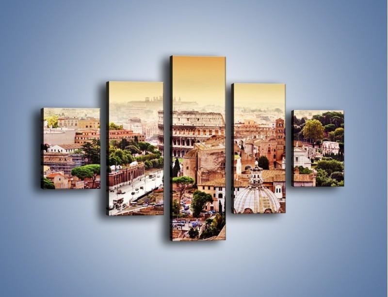 Obraz na płótnie – Panorama Rzymu – pięcioczęściowy AM338W1
