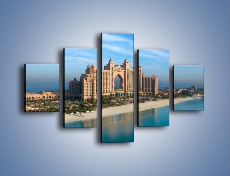 Obraz na płótnie – Atlantis Hotel w Dubaju – pięcioczęściowy AM341W1