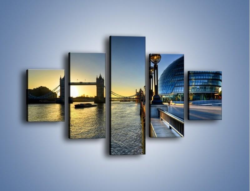 Obraz na płótnie – Londyński Tower Bridge – pięcioczęściowy AM348W1