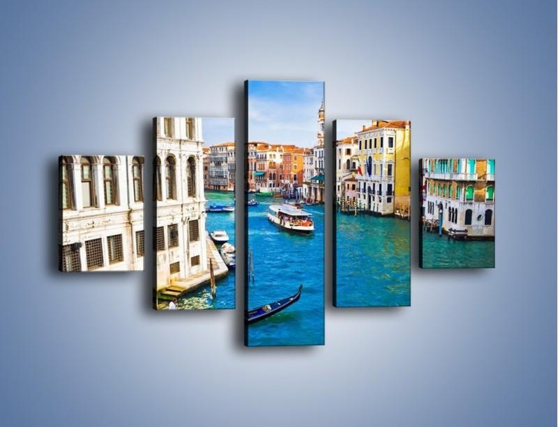 Obraz na płótnie – Kolorowy świat Wenecji – pięcioczęściowy AM362W1