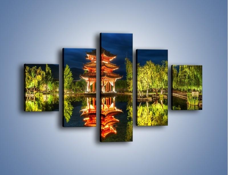 Obraz na płótnie – Urokliwy park w Chinach – pięcioczęściowy AM365W1