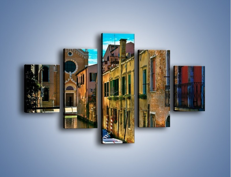 Obraz na płótnie – Cały urok Wenecji w jednym kadrze – pięcioczęściowy AM371W1