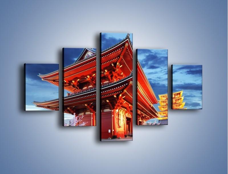 Obraz na płótnie – Świątynia Senso-ji w Tokyo – pięcioczęściowy AM378W1