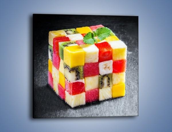 Obraz na płótnie – Owocowa kostka rubika – jednoczęściowy kwadratowy JN544