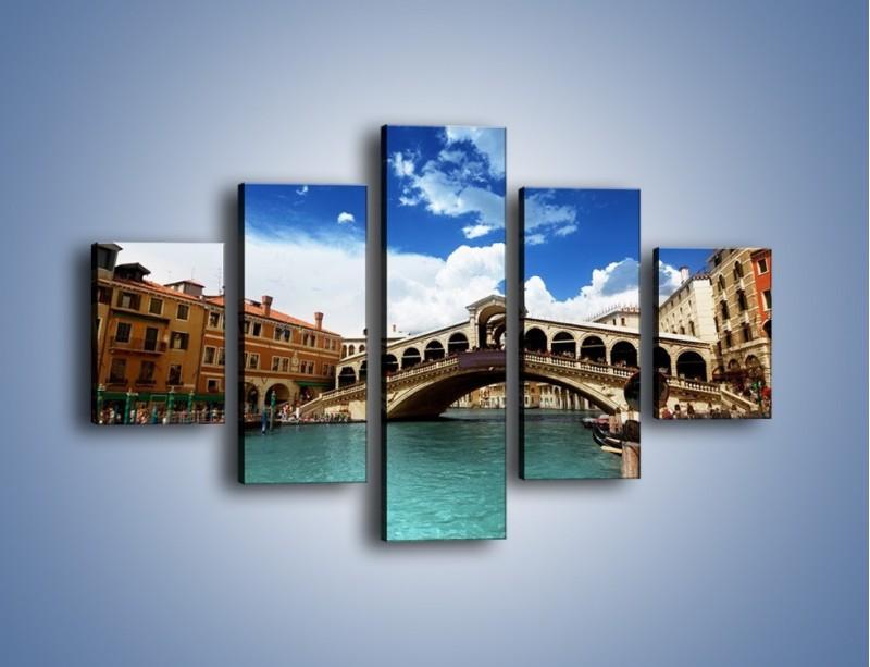 Obraz na płótnie – Most Rialto w Wenecji – pięcioczęściowy AM386W1