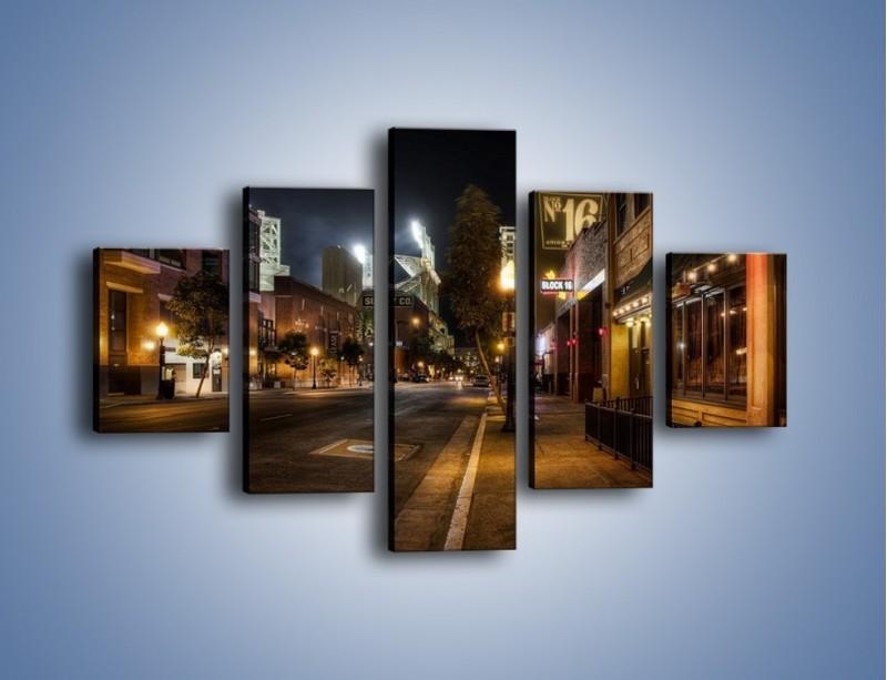 Obraz na płótnie – Ulica San Diego w Kaliforni – pięcioczęściowy AM390W1