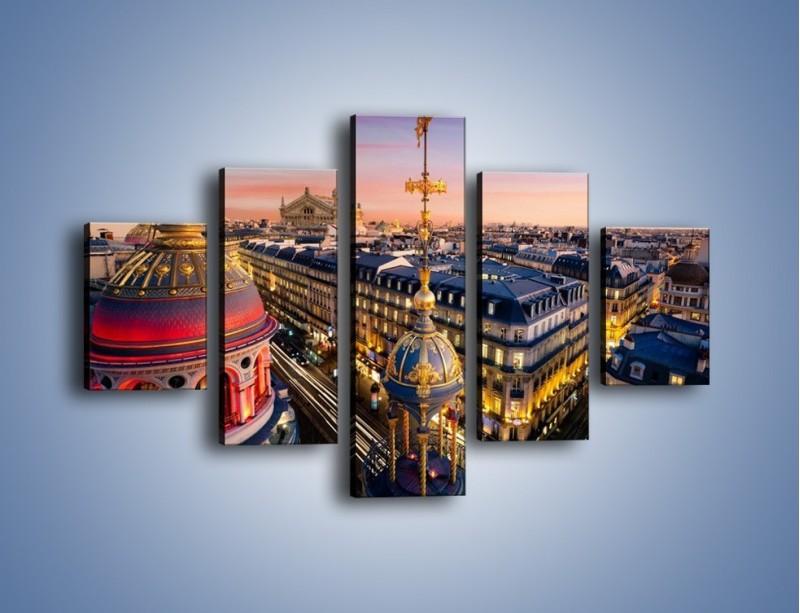 Obraz na płótnie – Paryska architektura – pięcioczęściowy AM402W1