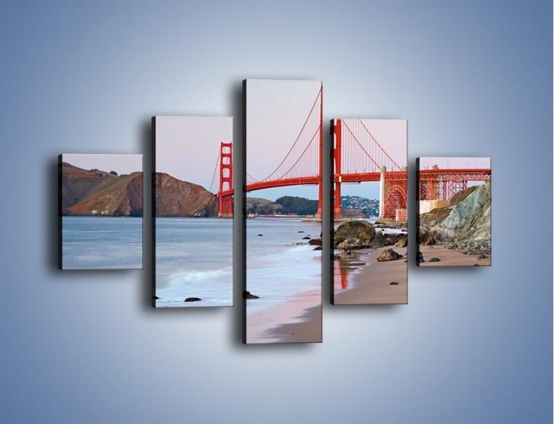Obraz na płótnie – Most Golden Gate – pięcioczęściowy AM406W1