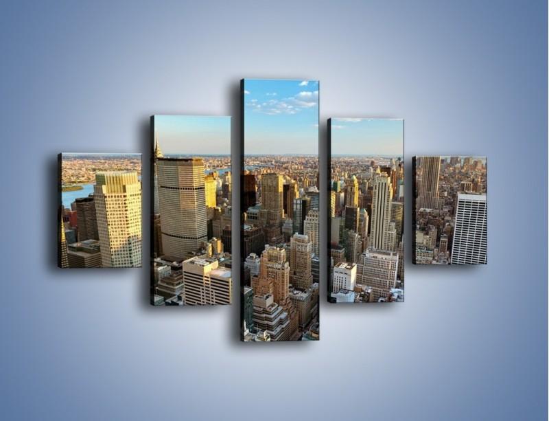 Obraz na płótnie – Manhattan w Nowym Yorku – pięcioczęściowy AM412W1