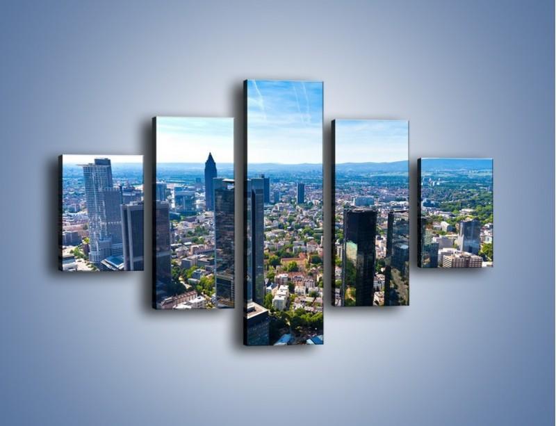 Obraz na płótnie – Panorama Frankfurtu – pięcioczęściowy AM414W1