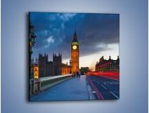 Obraz na płótnie – Big Ben świetle lamp – jednoczęściowy kwadratowy AM166