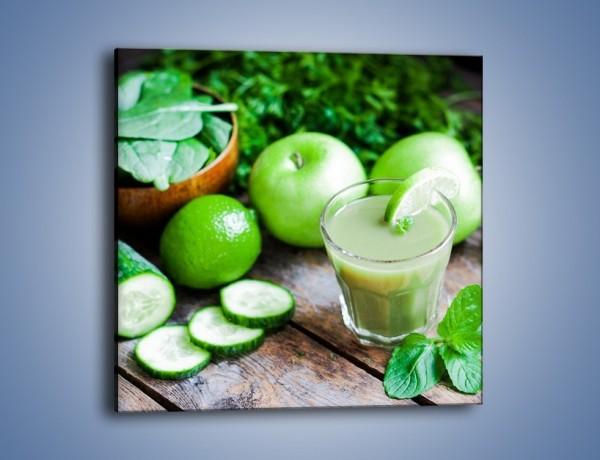 Obraz na płótnie – Koktail pełen zielonego zdrowia – jednoczęściowy kwadratowy JN545