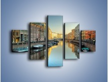 Obraz na płótnie – Kanał wodny w St. Petersburgu – pięcioczęściowy AM422W1