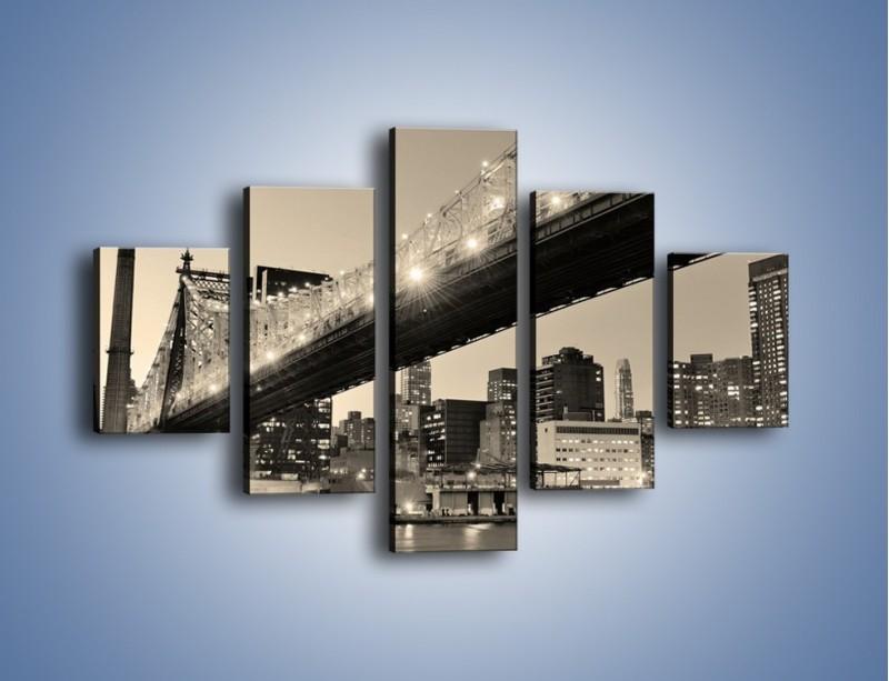 Obraz na płótnie – Most Qeensboro w Nowym Yorku – pięcioczęściowy AM438W1