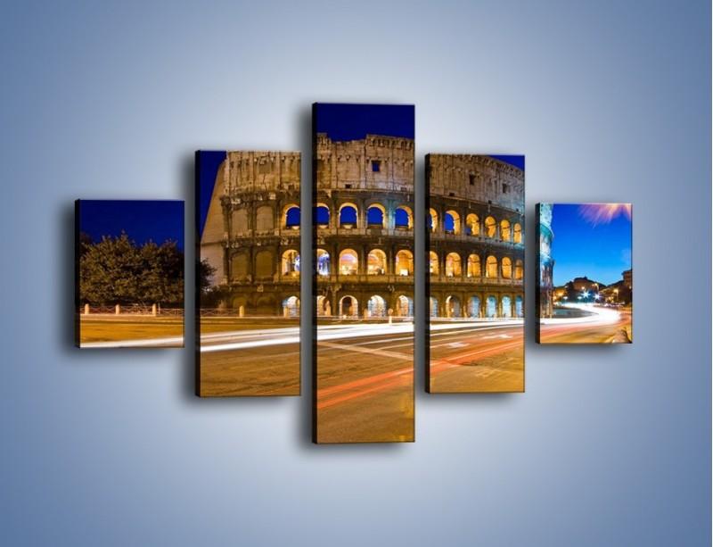 Obraz na płótnie – Koloseum po zmierzchu – pięcioczęściowy AM443W1