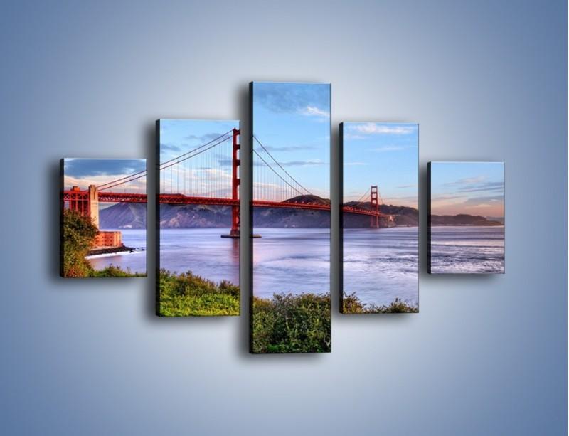 Obraz na płótnie – Most Golden Gate w San Francisco – pięcioczęściowy AM444W1