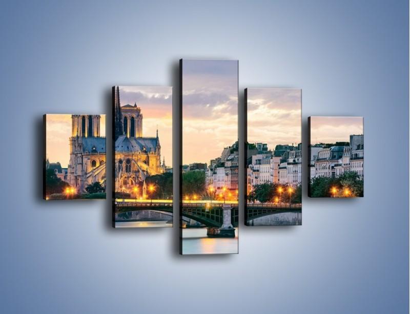 Obraz na płótnie – Katedra Notre Dame – pięcioczęściowy AM454W1