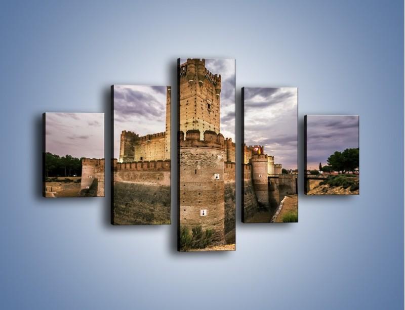 Obraz na płótnie – Zamek La Mota w Hiszpanii – pięcioczęściowy AM457W1