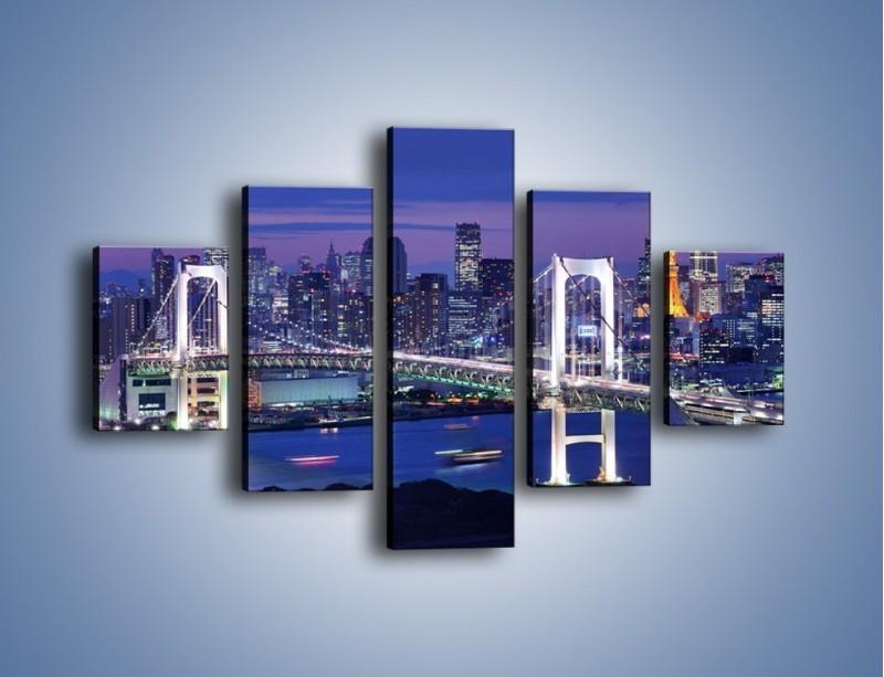 Obraz na płótnie – Tęczowy Most w Tokyo – pięcioczęściowy AM460W1