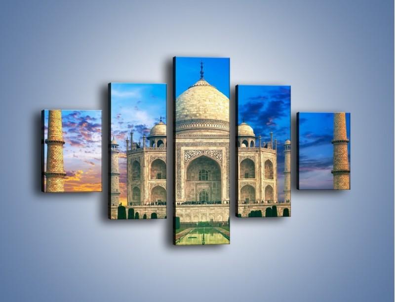 Obraz na płótnie – Tadź Mahal pod niebieskim niebem – pięcioczęściowy AM466W1
