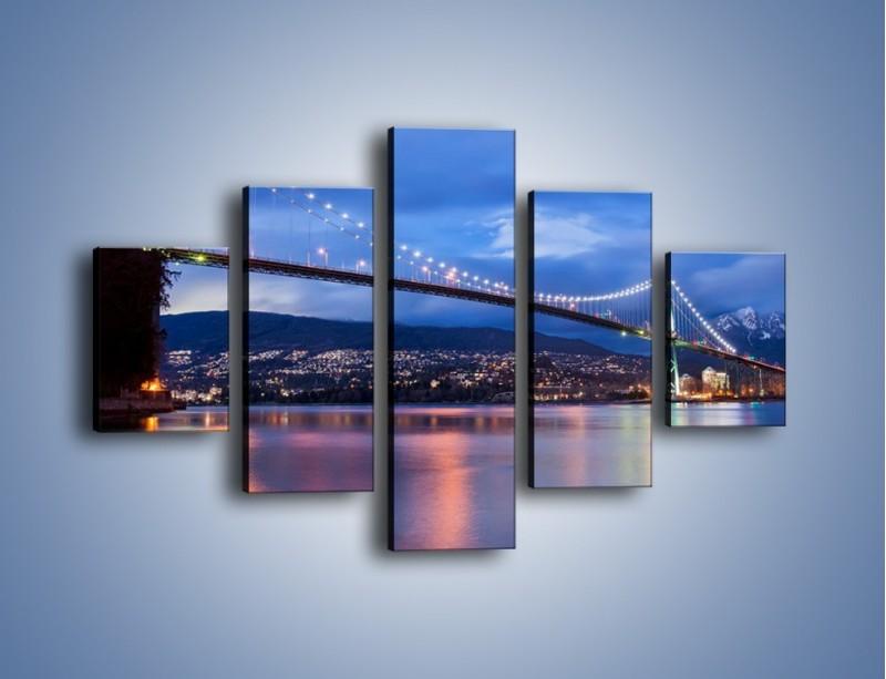 Obraz na płótnie – Most Lions Gate w Vancouver – pięcioczęściowy AM471W1