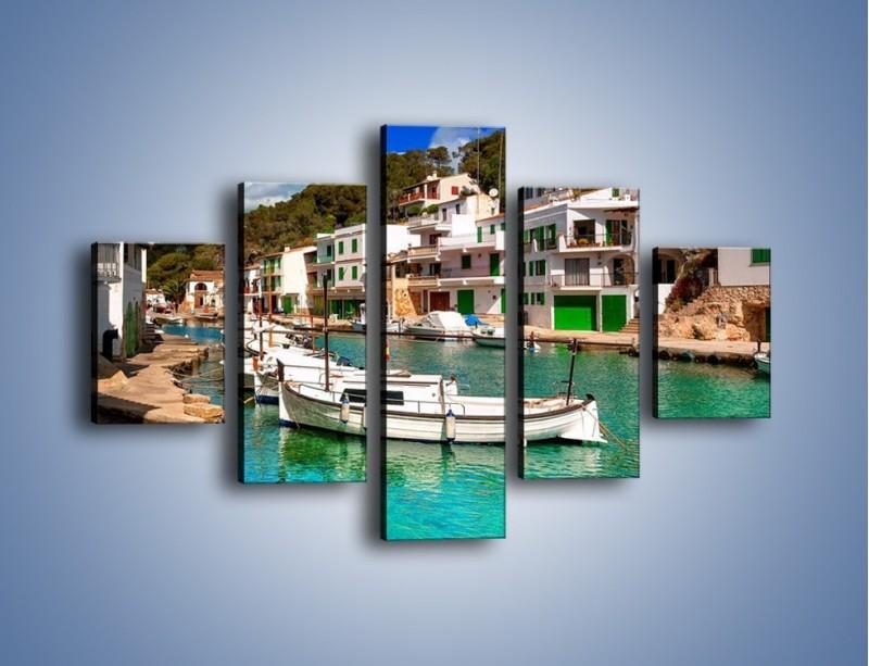 Obraz na płótnie – Domki nad wodą na Majorce – pięcioczęściowy AM484W1