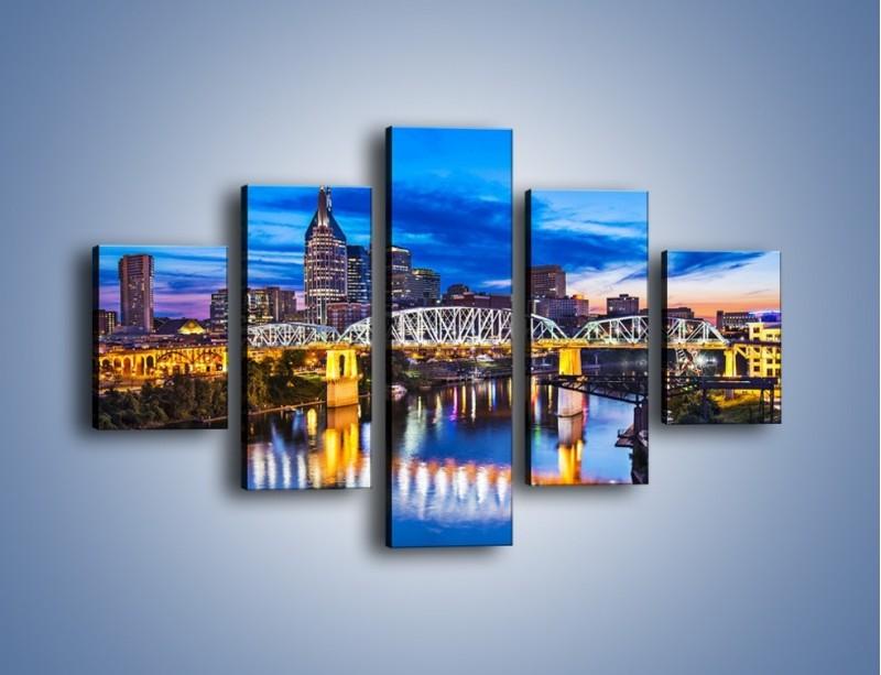 Obraz na płótnie – Most Shelby Street w Nashville – pięcioczęściowy AM489W1