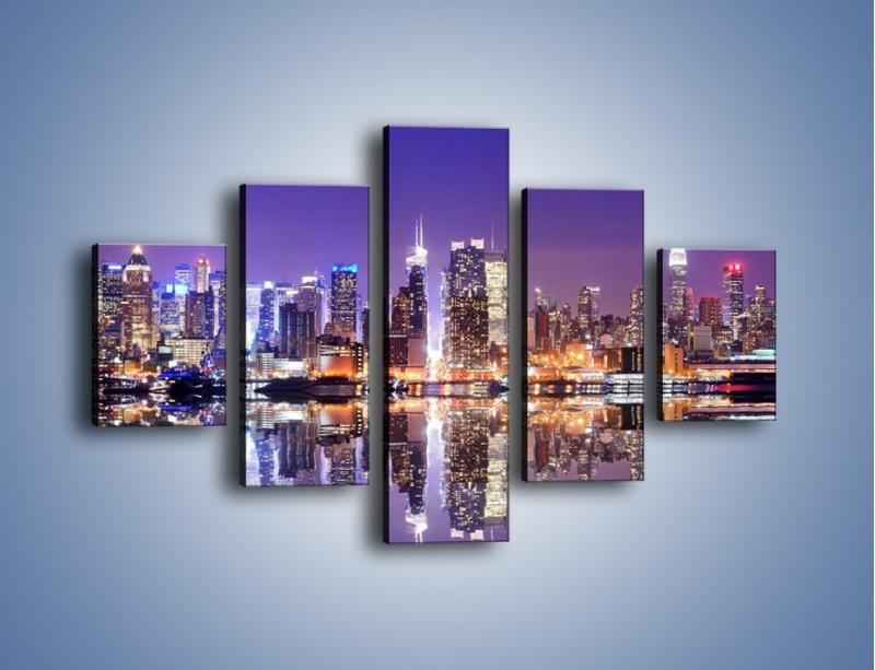 Obraz na płótnie – Panorama Midtown Manhattan – pięcioczęściowy AM492W1