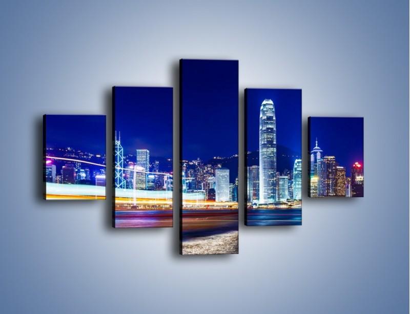 Obraz na płótnie – Panorama Hong Kongu – pięcioczęściowy AM499W1