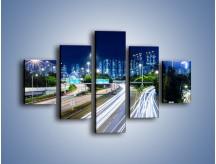 Obraz na płótnie – Autostrada prowadząca do Hong Kongu – pięcioczęściowy AM504W1