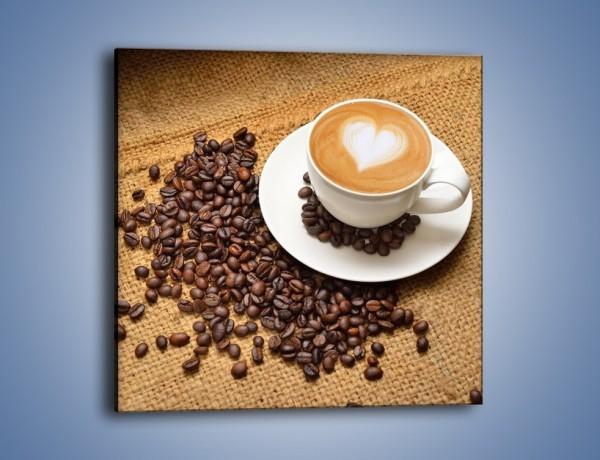 Obraz na płótnie – Uczucie wyrażone w kawie – jednoczęściowy kwadratowy JN547