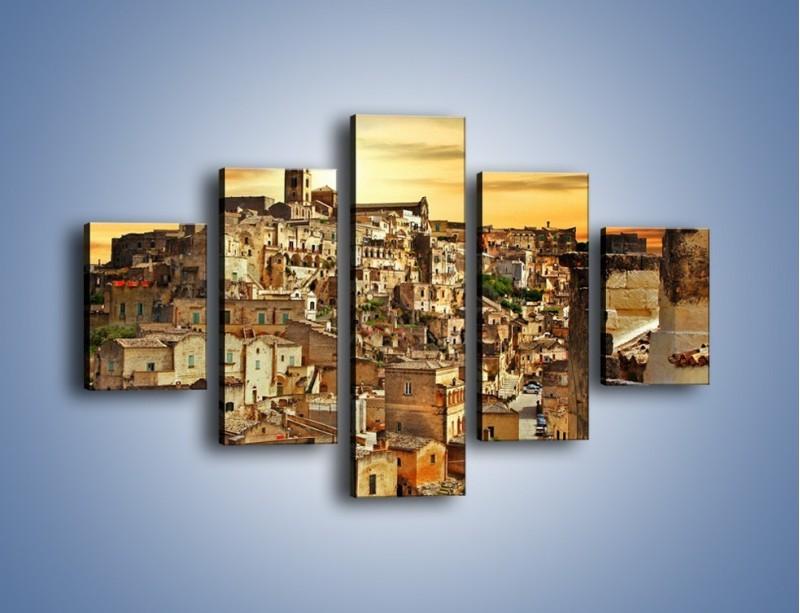Obraz na płótnie – Matera – miasto wykute w skale – pięcioczęściowy AM517W1