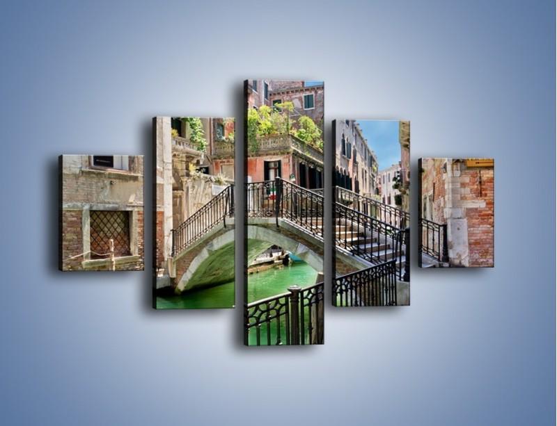 Obraz na płótnie – Wenecki most – pięcioczęściowy AM523W1