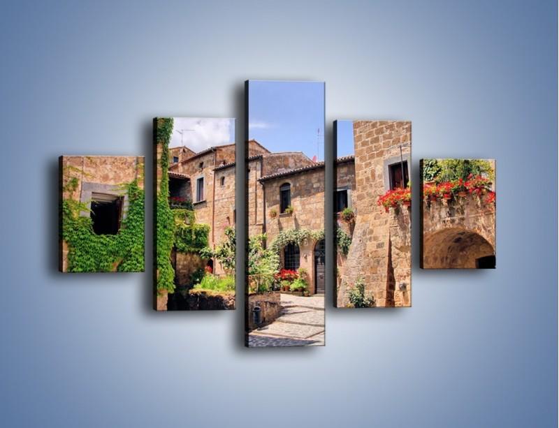 Obraz na płótnie – Romantyczna uliczka we Włoszech – pięcioczęściowy AM533W1