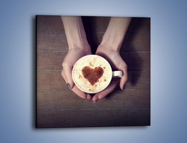 Obraz na płótnie – Kawa z ciepłym dotykiem – jednoczęściowy kwadratowy JN548