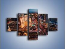 Obraz na płótnie – Centrum Las Vegas – pięcioczęściowy AM588W1