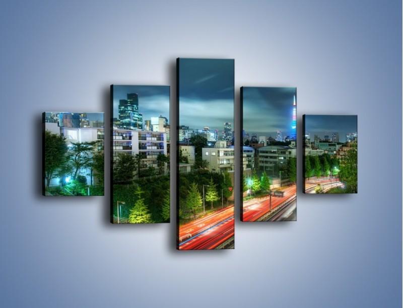 Obraz na płótnie – Miasto Roppongi w Japonii – pięcioczęściowy AM593W1