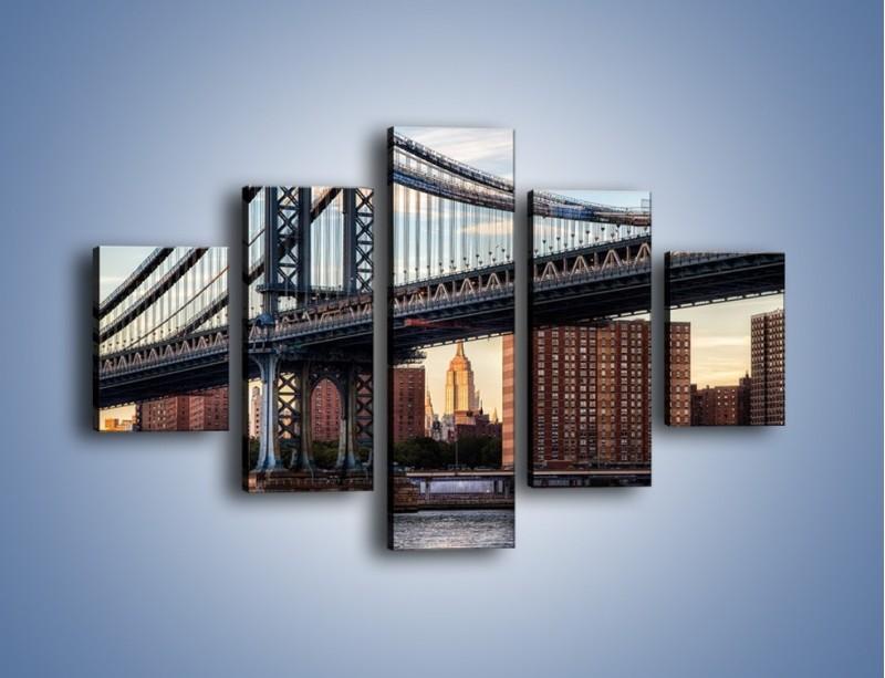 Obraz na płótnie – Manhattan Bridge – pięcioczęściowy AM607W1