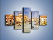 Obraz na płótnie – Canal Grande w Wenecji o poranku – pięcioczęściowy AM617W1