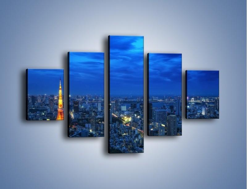 Obraz na płótnie – Tokyo Tower w Japonii – pięcioczęściowy AM621W1